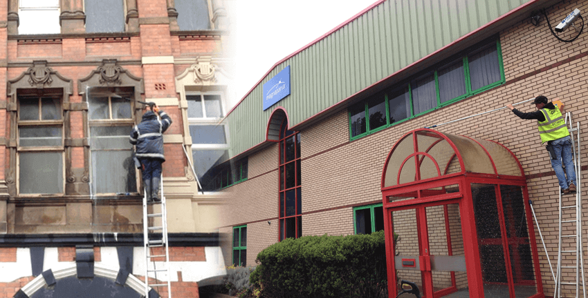 Industrial window cleaning